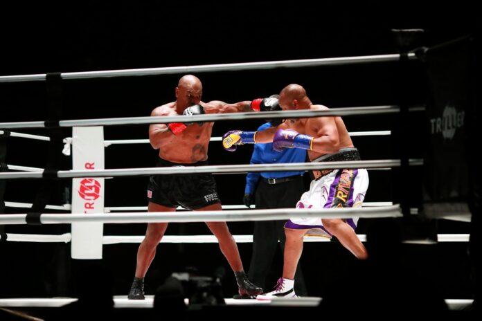 Meci demonstrativ Mike Tyson contra Roy Jones Jr. Cati bani au incasat sportivii?